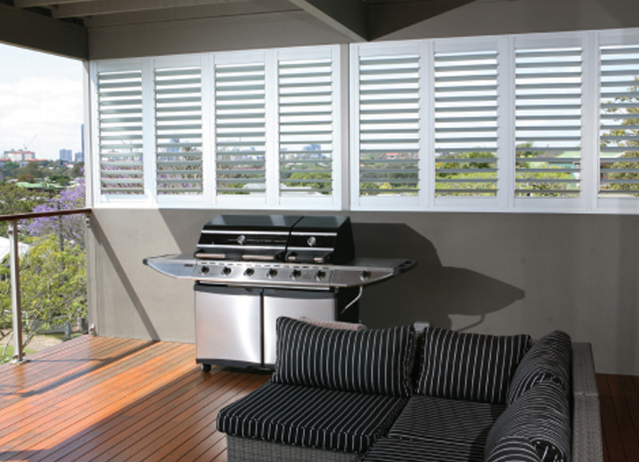 Aluminium Outdoor Shutters from Brisbane Shutters and Awnings are perfect for maximising your home's outdoor living spaces, including patios, decks and balconies