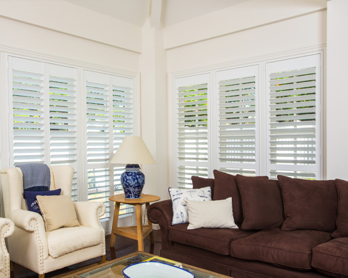 Thermalite Shutters from Brisbane Shutters and Awnings have the look and feel of wood with several major advantages. Made from dense polymer foam, Thermalite is a solid, non-toxic synthetic material.