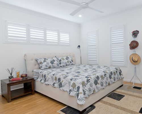 Thermalite and Polymer Shutters from Brisbane Shutters and Awnings have the look and feel of wood with several major advantages. Made from dense polymer foam, Thermalite is a solid, non-toxic synthetic material.
